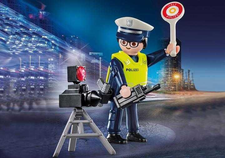 PLAYMOBIL Polizist mit Radarfalle (70304)