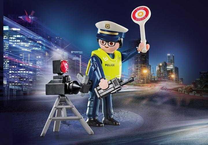 PLAYMOBIL Politieman met flitcontrole (70305)