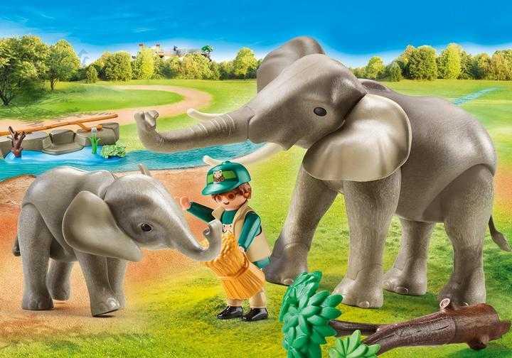 PLAYMOBIL Elefanten im Freigehege (70324)