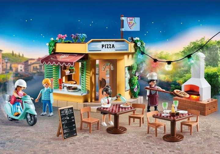 PLAYMOBIL Pizzeria mit Gartenrestaurant (70336)