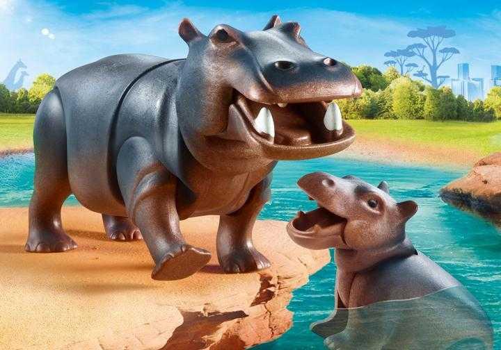 PLAYMOBIL Flußpferd mit Baby (70354)