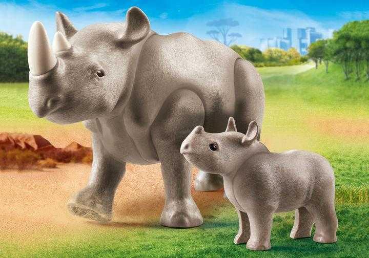 PLAYMOBIL Neushoorn met baby (70357)