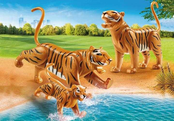PLAYMOBIL 2 Tiger mit Baby (70359)