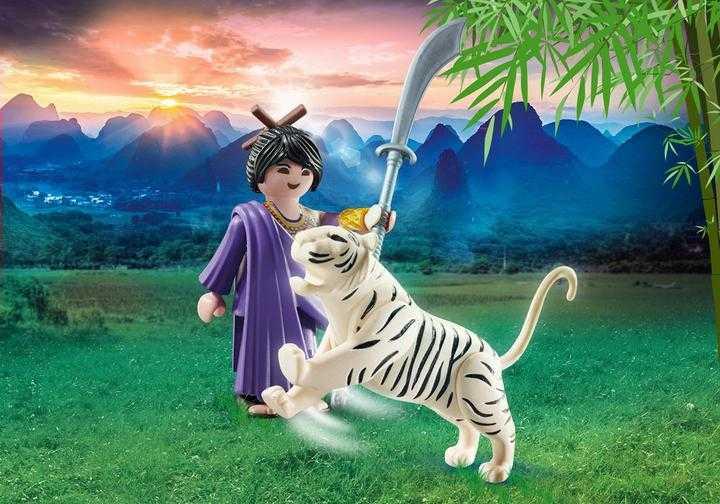PLAYMOBIL Aziatische vechter met tijger (70382)
