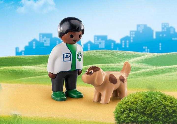 PLAYMOBIL Dierenarts met hond (70407)