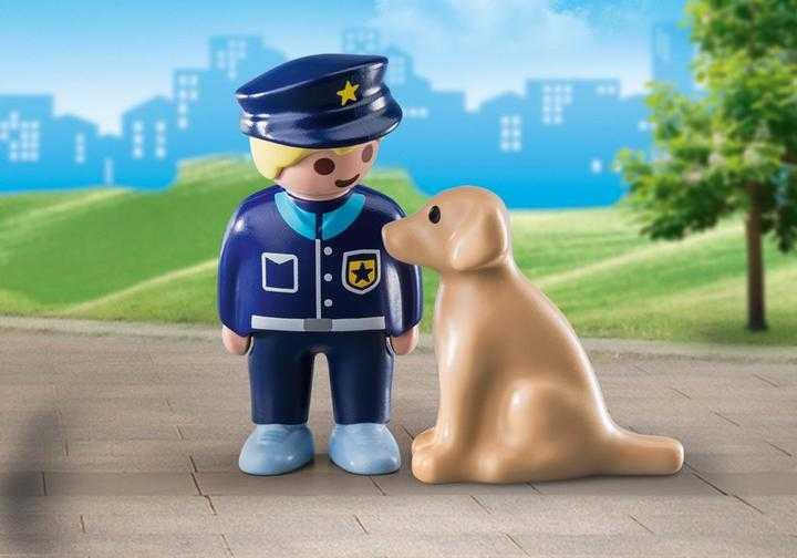PLAYMOBIL Politieman met hond (70408)