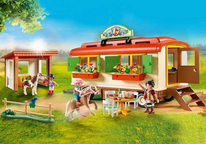 PLAYMOBIL Pony Shelter with Mobile Home (70510)