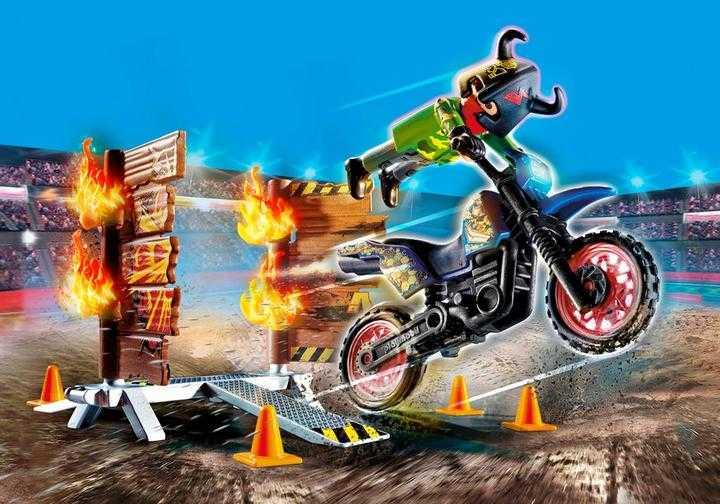 PLAYMOBIL Stuntshow Motor met vuurmuur (70553)