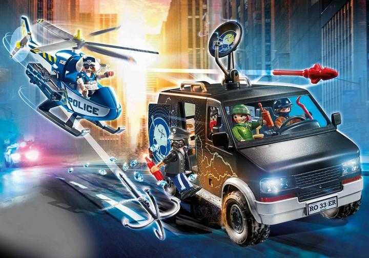 PLAYMOBIL Polizei-Helikopter: Verfolgung des Fluchtfahrzeugs (70575)