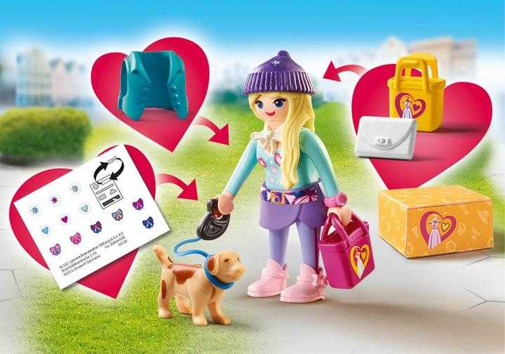 PLAYMOBIL Fashionista with Dog (70595)