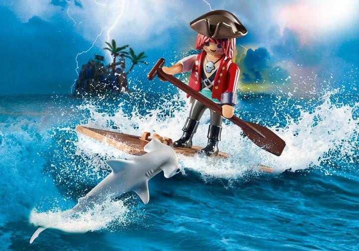 PLAYMOBIL Pirate with Raft (70598)