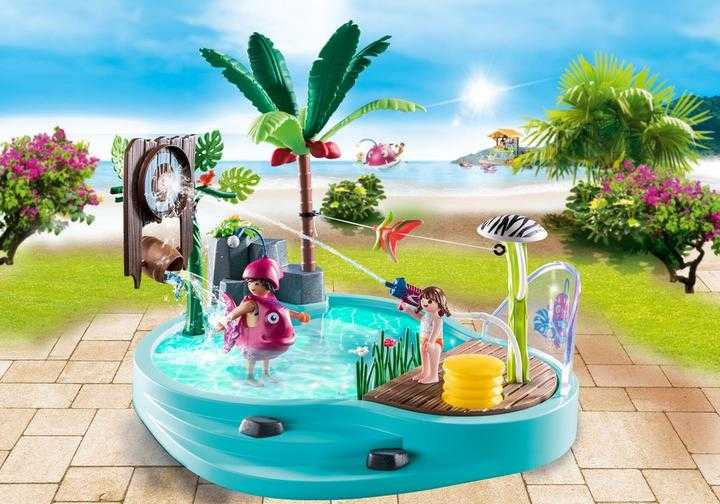 PLAYMOBIL Small Pool with Water Sprayer (70610)