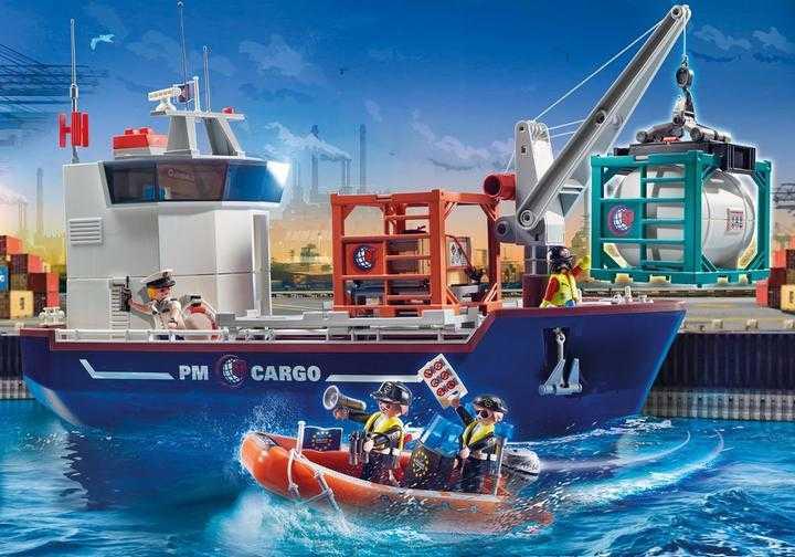 PLAYMOBIL Großes Containerschiff mit Zollboot (70769)