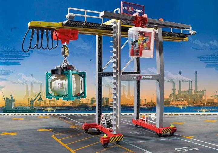 PLAYMOBIL Portaalkraan met containers (70770)