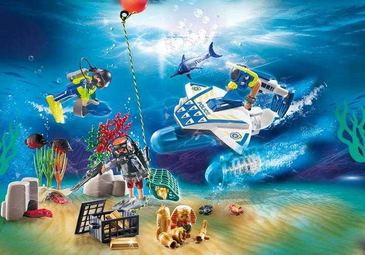 PLAYMOBIL Advent Calendar - Bathing Fun Police Diving Mission (70776)