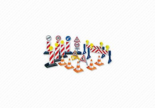 PLAYMOBIL Wegenbouw accessoires (7280)