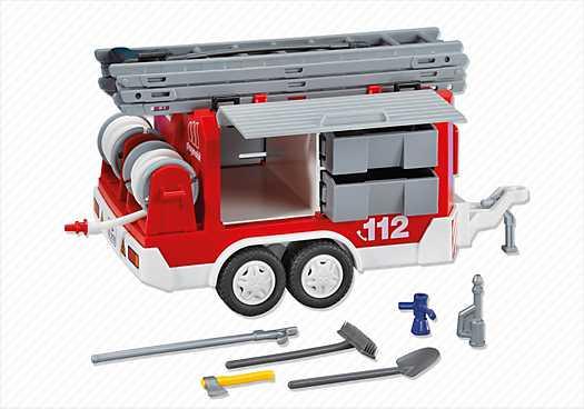 PLAYMOBIL Brandweer-aanhangwagen (7485)