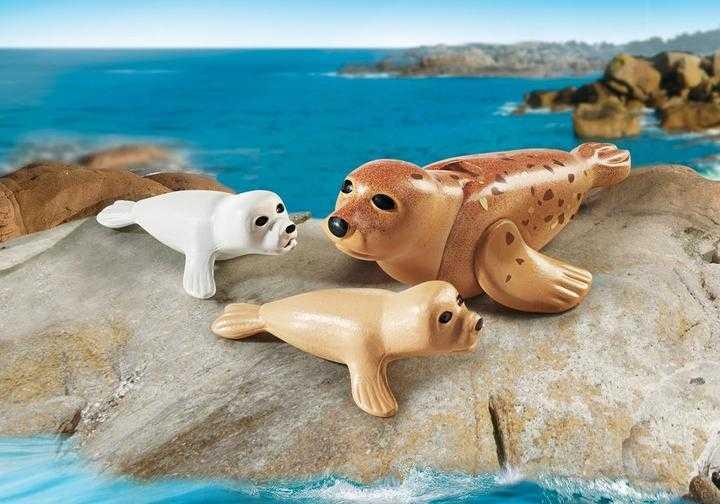 PLAYMOBIL Zeehond met pups (9069)