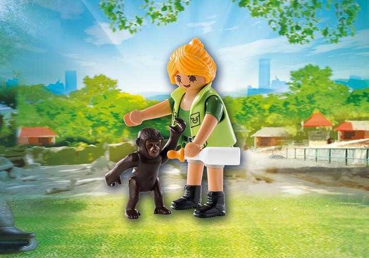 PLAYMOBIL Dierenverzorger met baby gorilla (9074)