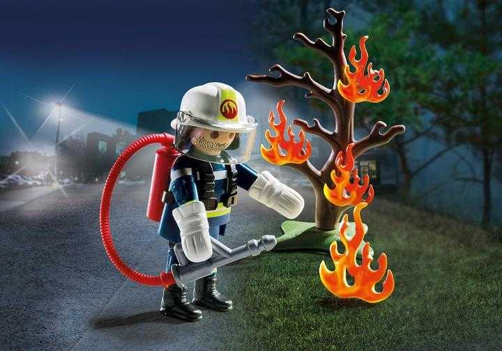 PLAYMOBIL Brandweerman met brandende boom (9093)