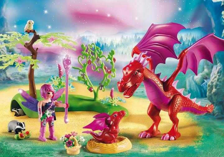PLAYMOBIL Drakenhoeder met rode draken (9134)
