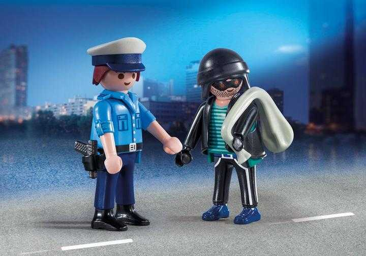 PLAYMOBIL Duo Pack Polizist und Langfinger (9218)