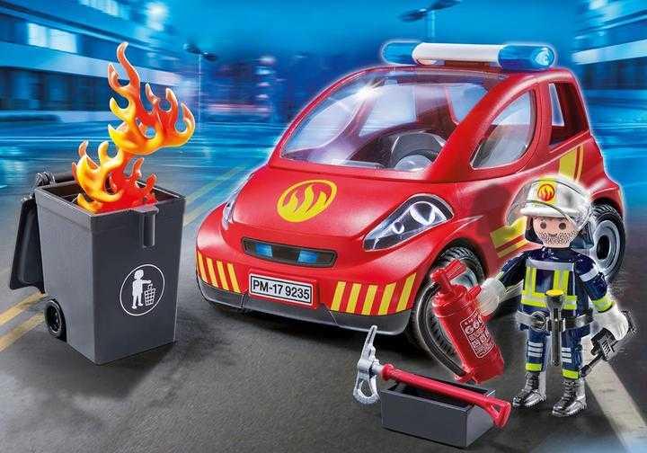 PLAYMOBIL Brandweerman met interventievoertuig (9235)