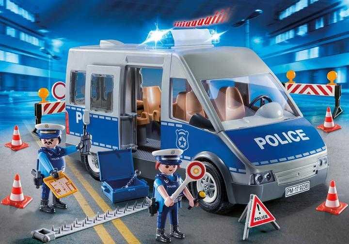 PLAYMOBIL Politie interventiewagen met wegversperring (9236)