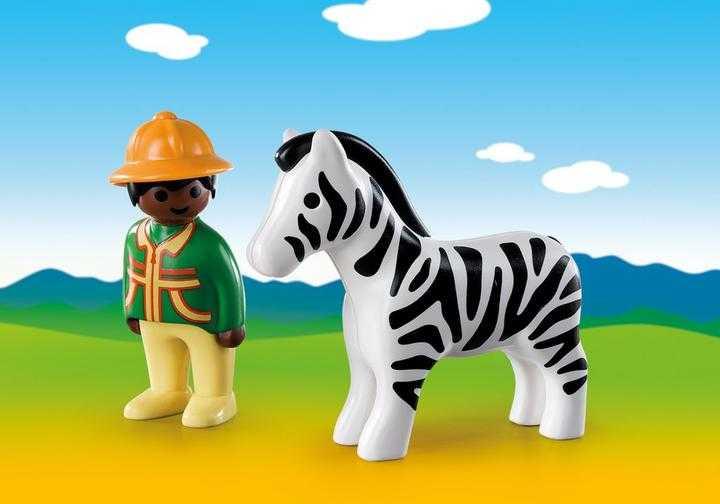 PLAYMOBIL 1.2.3 Verzorger met zebra (9257)