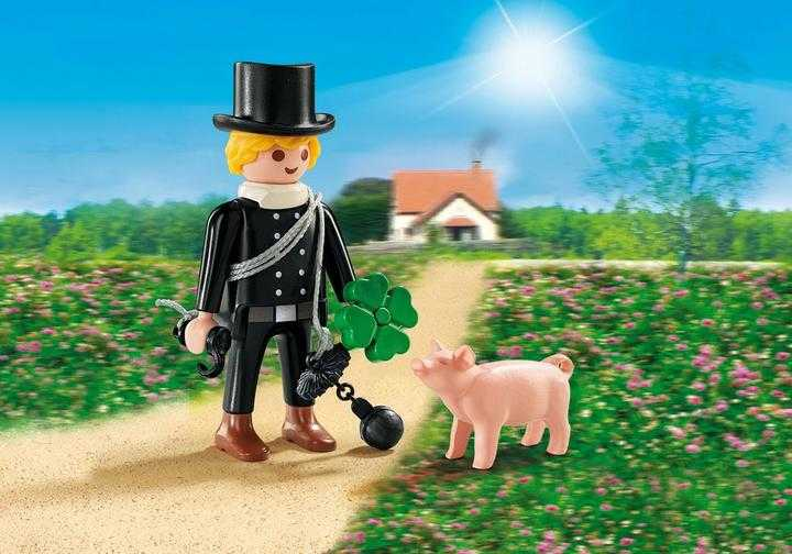 PLAYMOBIL Schornsteinfeger mit Glücksschweinchen (9296)