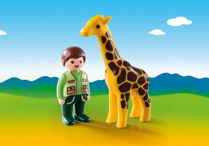 PLAYMOBIL Dierenverzorger met giraf (9380)