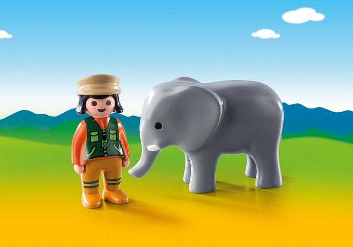 PLAYMOBIL Tierpflegerin mit Elefant (9381)