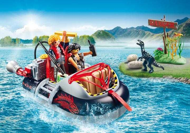 PLAYMOBIL Dino Hovercraft with Underwater Motor (9435)