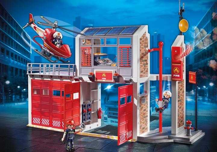 PLAYMOBIL Grote brandweerkazerne met helicopter (9462)