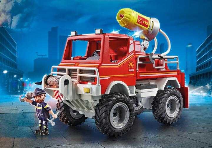 PLAYMOBIL Brandweer terreinwagen met waterkanon (9466)