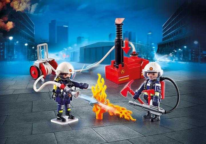 PLAYMOBIL Brandweerteam met waterpomp (9468)