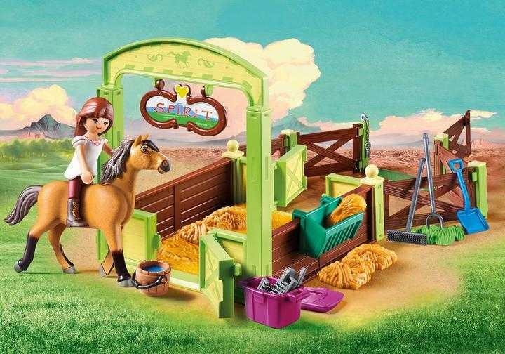 PLAYMOBIL Lucky & Spirit met paardenbox (9478)