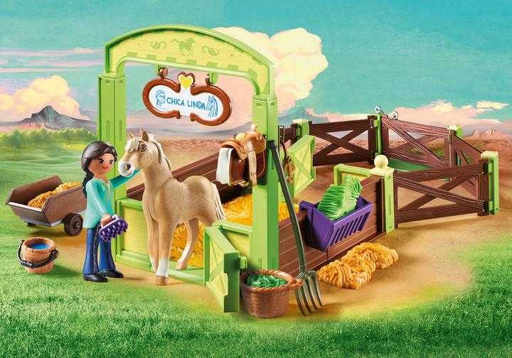 PLAYMOBIL Pru & Chica Linda met paardenbox (9479)