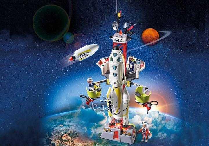 PLAYMOBIL Mars-raket met lanceerplatform (9488)