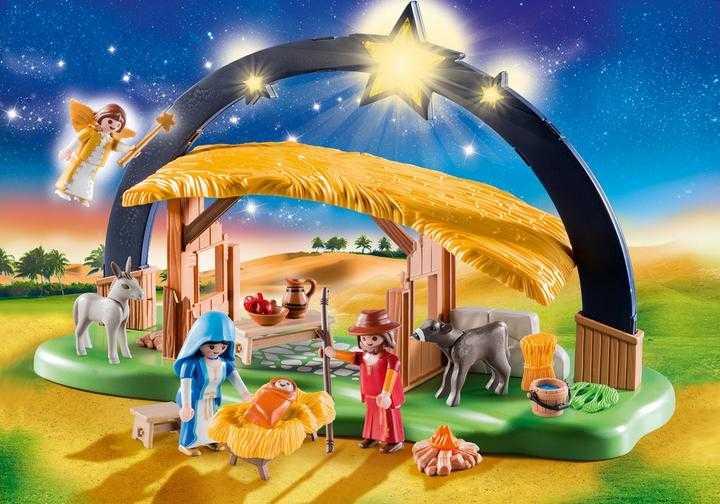 PLAYMOBIL Kerststal met heldere ster (9494)