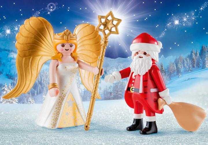 PLAYMOBIL Santa and Christmas Angel (9498)