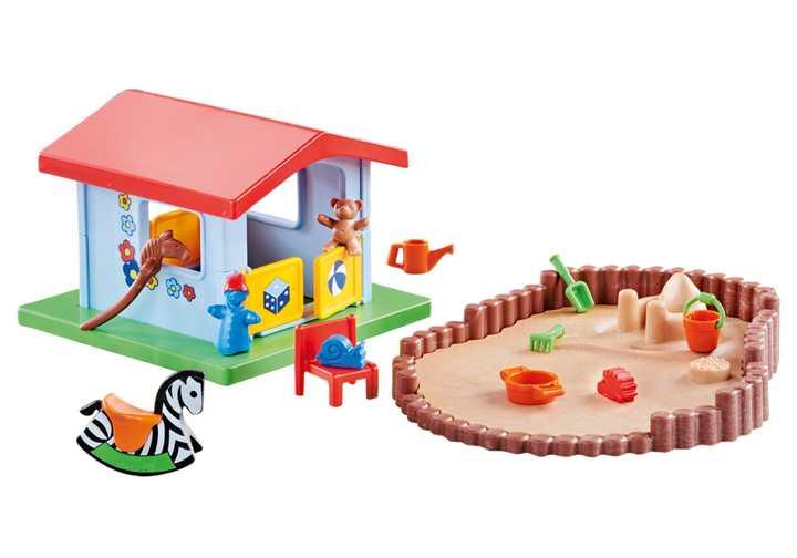 PLAYMOBIL Speelhuis met zandbak (9814)