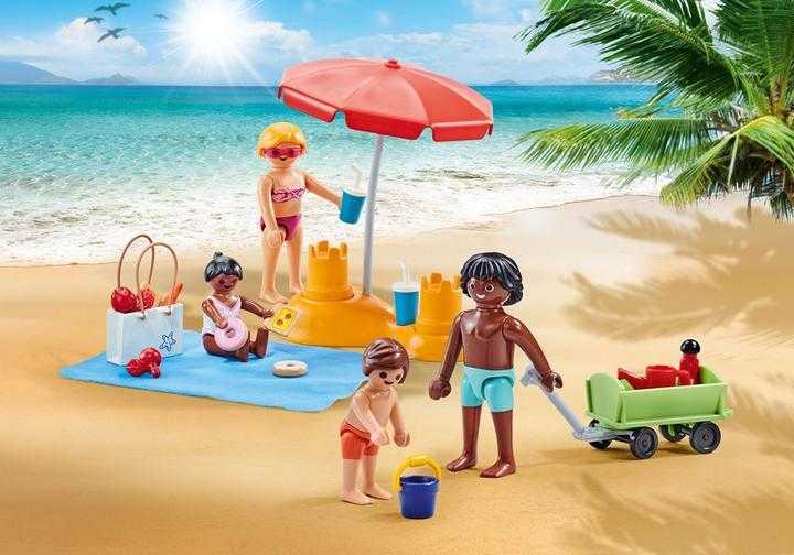 PLAYMOBIL Familie op het strand (9819)