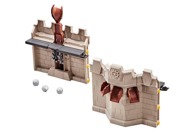 PLAYMOBIL Uitbreiding muur en katapult voor de Grote burcht van de Novelmore ridders (9839)