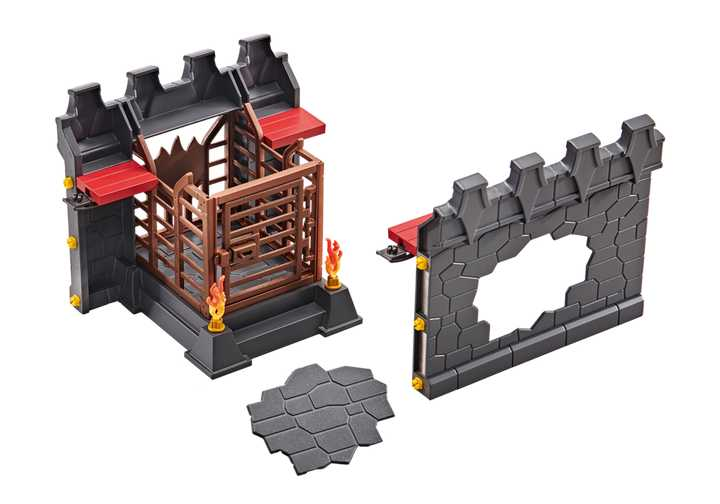 PLAYMOBIL Wall extension for Burnham Raiders Fortress (9841)