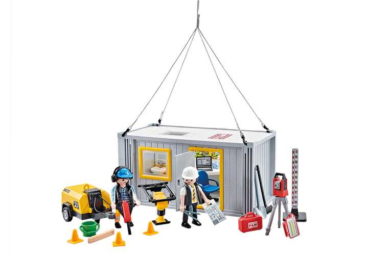 PLAYMOBIL Arbeiders en containers (9843)