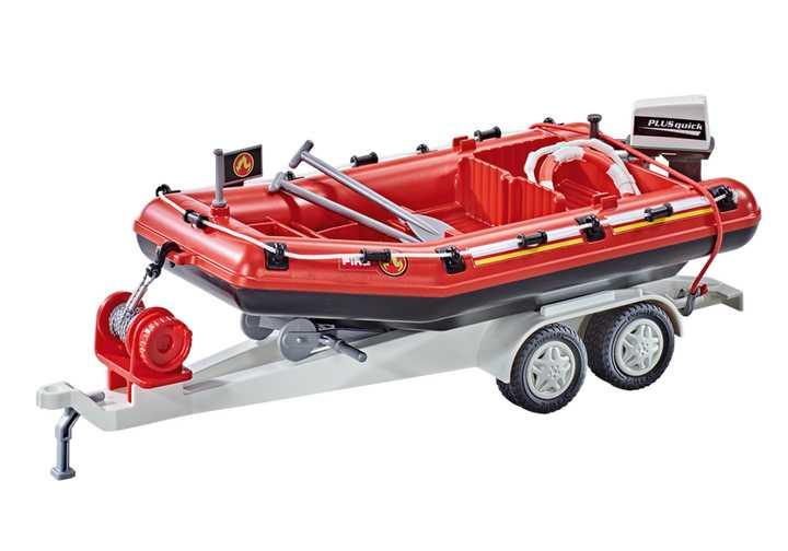 PLAYMOBIL Brandweerboot met aanhangwagen (9845)