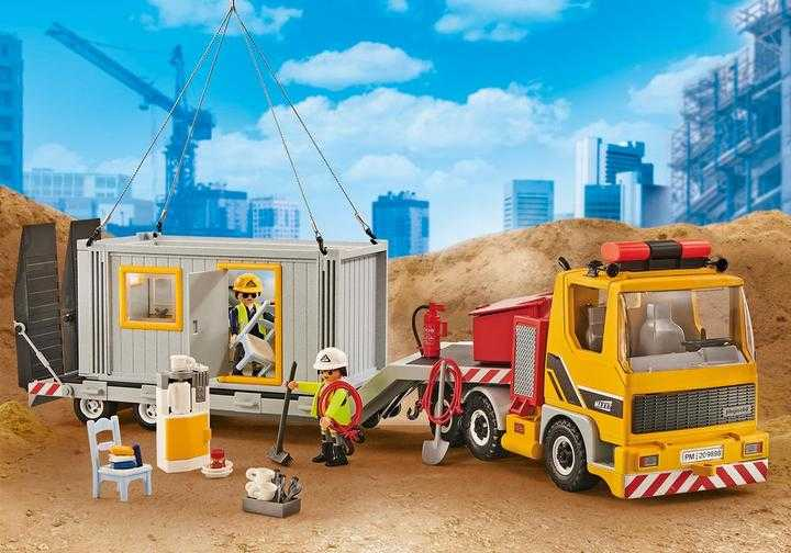 PLAYMOBIL Tieflader m. Container (9898)