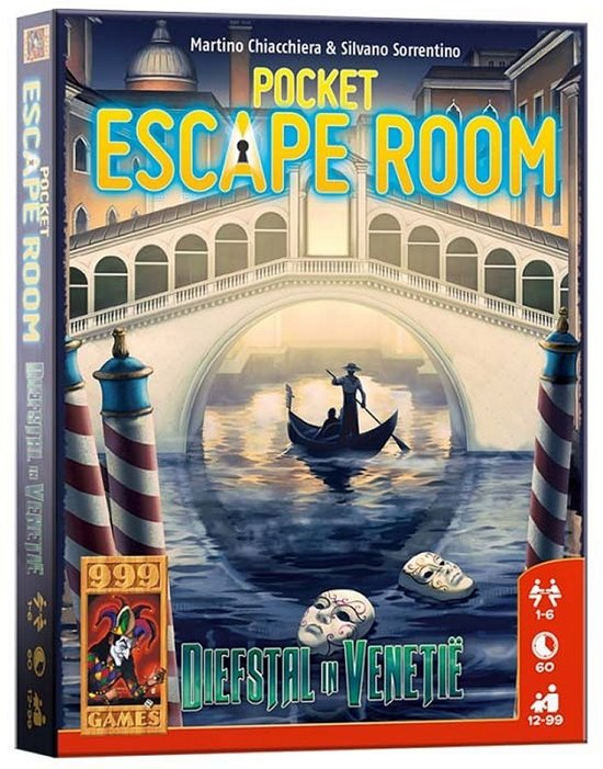 999 Games Pocket Escaperoom Diefstal in Venetië - Breinbreker