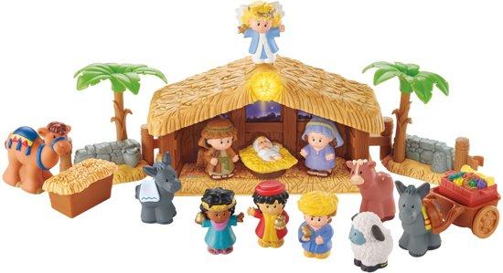 Little People Kerststal met Lichtgevende Engel